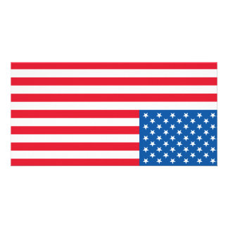 USA Flag stars and stripes Customised Photo Card