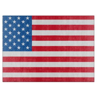 USA Flag stars and stripes Cutting Board