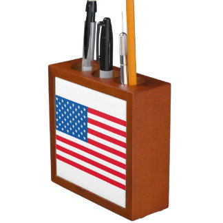 USA Flag stars and stripes Desk Organiser