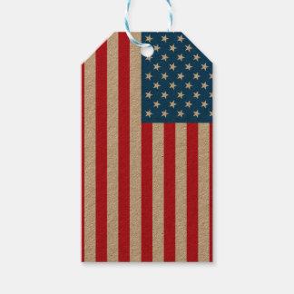 USA Flag stars and stripes Gift Tags