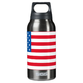 USA Flag stars and stripes Insulated Water Bottle