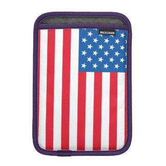 USA Flag stars and stripes iPad Mini Sleeve