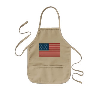 USA Flag stars and stripes Kids Apron