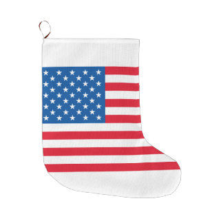 USA Flag stars and stripes Large Christmas Stocking