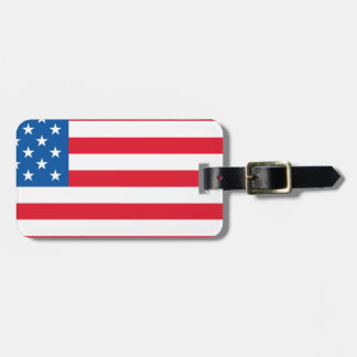 USA Flag stars and stripes Luggage Tag