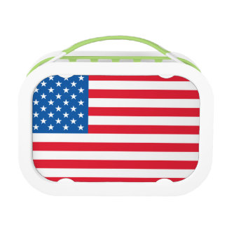 USA Flag stars and stripes Lunch Box