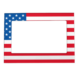 USA Flag stars and stripes Magnetic Picture Frame