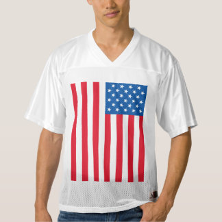 USA Flag stars and stripes Men's Football Jersey