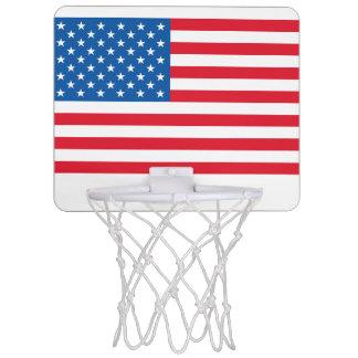 USA Flag stars and stripes Mini Basketball Hoop