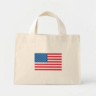 USA Flag stars and stripes Mini Tote Bag