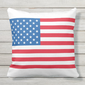 USA Flag stars and stripes Outdoor Cushion