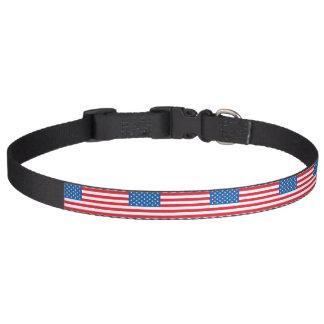USA Flag stars and stripes Pet Collar