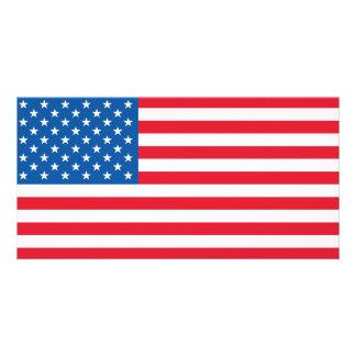 USA Flag stars and stripes Photo Card