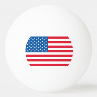 USA Flag stars and stripes Ping Pong Ball