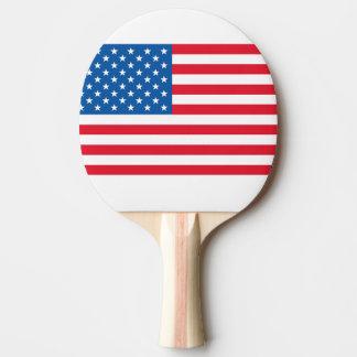 USA Flag stars and stripes Ping Pong Paddle