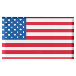 USA Flag stars and stripes Place Card Holder