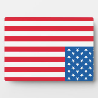 USA Flag stars and stripes Plaque