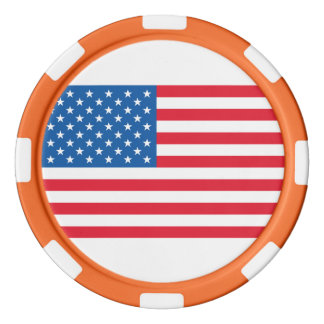 USA Flag stars and stripes Poker Chips