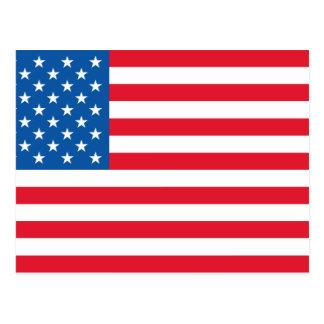 USA Flag stars and stripes Postcard