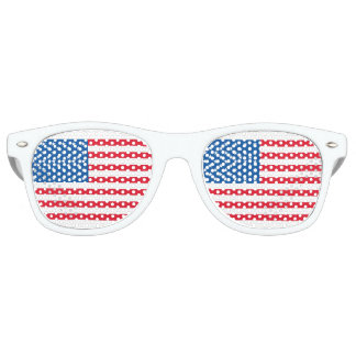 USA Flag stars and stripes Retro Sunglasses