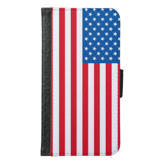 USA Flag stars and stripes Samsung Galaxy S6 Wallet Case