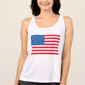 USA Flag stars and stripes Singlet
