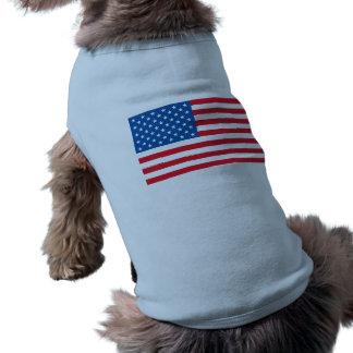 USA Flag stars and stripes Sleeveless Dog Shirt