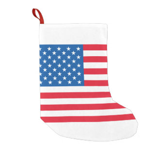 USA Flag stars and stripes Small Christmas Stocking