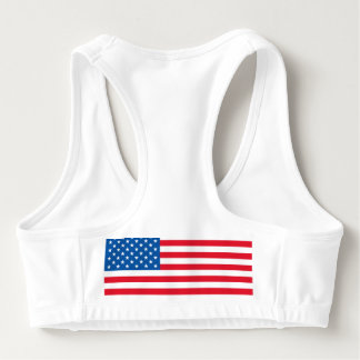 USA Flag stars and stripes Sports Bra