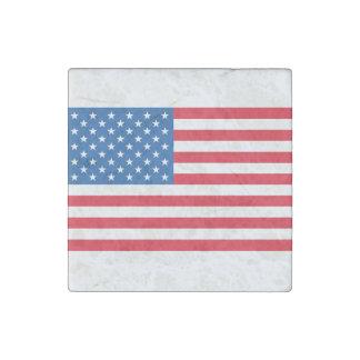 USA Flag stars and stripes Stone Magnet