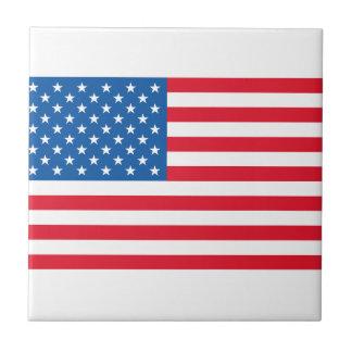 USA Flag stars and stripes Tile