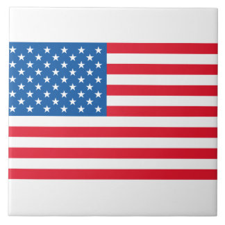 USA Flag stars and stripes Tile