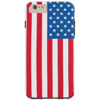 USA Flag stars and stripes Tough iPhone 6 Plus Case