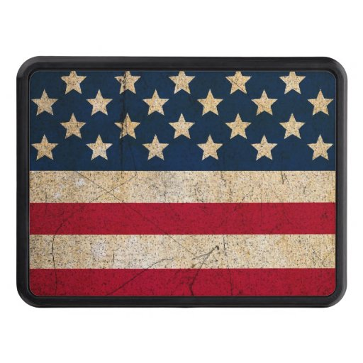 USA Flag Stars and Stripes Trailer Hitch Cover