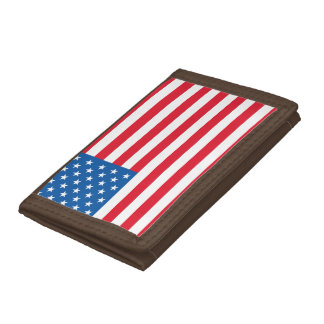 USA Flag stars and stripes Tri-fold Wallet