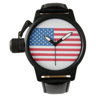 USA Flag stars and stripes Watch