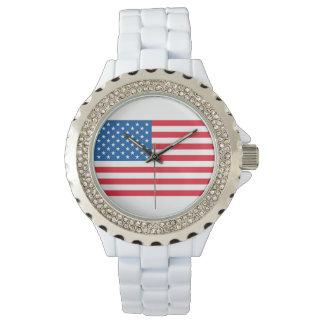 USA Flag stars and stripes Watch