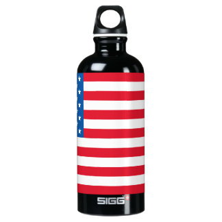 USA Flag stars and stripes Water Bottle