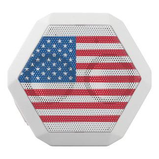 USA Flag stars and stripes White Bluetooth Speaker