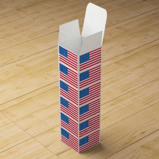 USA Flag stars and stripes Wine Box