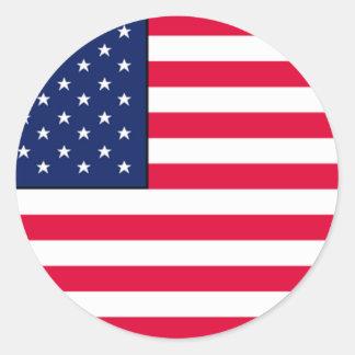 USA flag stickers