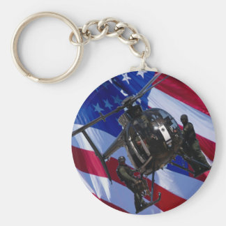 USA FLAG SWAT HELICOPTER KEY RING