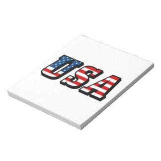 USA Flag Text Scratch Pads