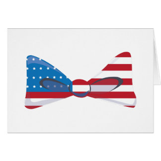 USA Flag Tie Greeting Cards