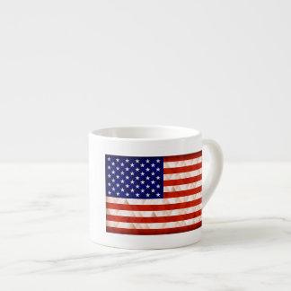 USA flag triangle background Espresso Cup