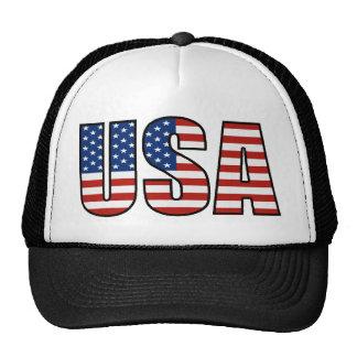 USA Flag Trucker Hat (black)