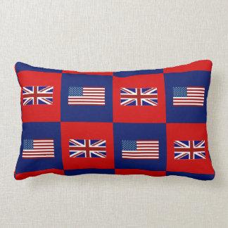 USA Flag & UK Flag Pattern Pillow