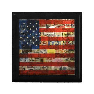Usa Flag United States American Flag America Gift Box