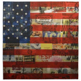 Usa Flag United States American Flag America Napkin