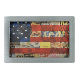 Usa Flag United States American Flag America Rectangular Belt Buckle